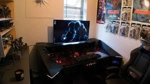 pc gamer bureau this built a custom pc gaming desk and it s rad nerdist