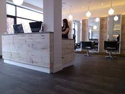 Front Desk Receptionist Resume Salon by The Weathered White Barnsiding Helps Create A Sleek Modern Look