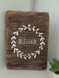 Blessed Barn Wood Sign Wreath Small
