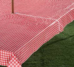 Fitted Round Outdoor Tablecloth With Umbrella Hole by Amazon Com Gingham Zippered Umbrella Table Cover 60