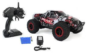 100 Truck Suspension High Speed Racing Slayer Remote Control Red Toy Rally RC Car 1