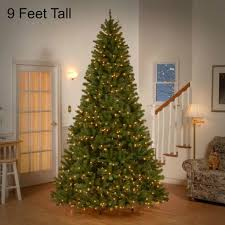 Bathroom Cool Design 9 Ft Pre Lit Christmas Tree Clearance Led
