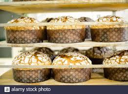 panettone saisonales backen in mailänder bäckerei für
