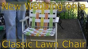 New Webbing For My Lawn Chair (and Why I Don't Like Camping Chairs)