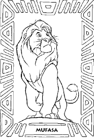 Pin Mufasa Clipart Coloring Page 8