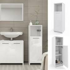 vicco badschrank kiko midischrank badezimmerschrank badmöbel bad weiß hochglanz