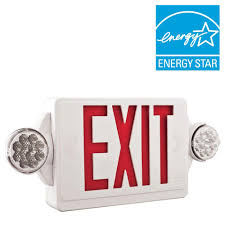 emergency exit lights commercial lighting the home depot