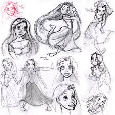 Rapunzel Sketches By Disney Animator Glen Keane Character