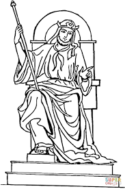 Coloring Page King Solomon