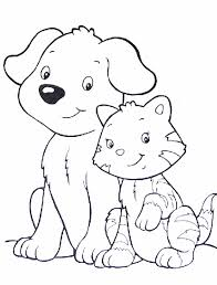 Online For Kid Cats And Dogs Coloring Pages 67 On Free Book With
