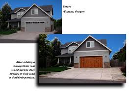 GarageSkins real wood garage door overlays
