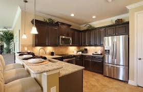 Traditional Kitchen With Peninsula Limestone Tile Simple Granite Counters Tropical Palm Natural