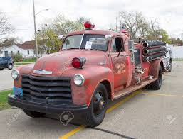 MENASHA, WI - MAY 16: 1951 Chevy Fire Truck At 7th Annual Car ...