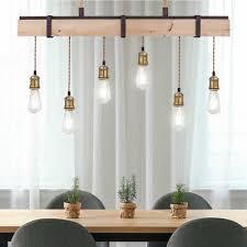 design decken pendel leuchte esszimmer holz balken seil