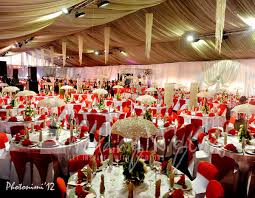 White Gold And Red Wedding Decorations Of Tolu Odukoya Olumide Ijogun My Nigeria