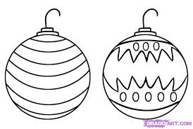 Christmas Ornaments Drawings Tree Ornament Drawing 02