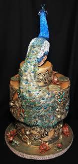 India Peacock Wedding Cake