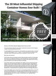 100 Free Shipping Container House Plans Preview 30 Homes 120 Page EBook