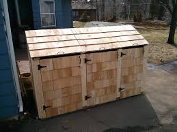 simple and easy steps to build a garbage storage shed shed