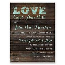 Rustic Wedding Invitations On Board Petite Invitation