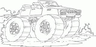 Monster Truck Coloring Pages 6