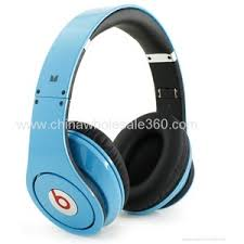 $43 high replica Beats Studio by Dr Dre headphones light blue