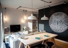 schwarze wände für moderne farbgestaltung kleiner wohn