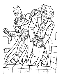Free Printable Coloring Batman And Joker Pages 38 For Kids With