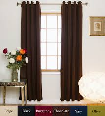 108 Inch Long Blackout Curtains by Chocolate Nickel Grommet Top Energy Saving Thermal Insulated