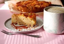 kuchen steht kopf apfel erdnuss kuchen mit karamell