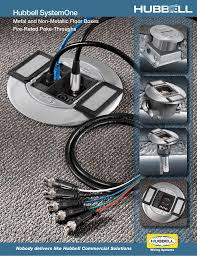 Recessed Poke Through Floor Box by Hubbell Systemone Hubbell Wiring Device