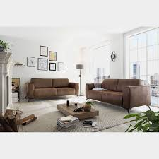living sofa jandira vintage braun microfaser
