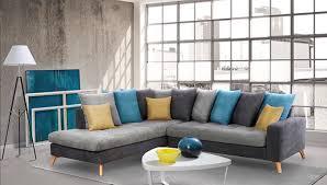 canap bleu clair canape d angle à gauche morea gris fonce gris clair bleu jaune