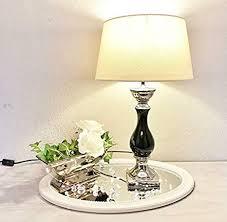 druline tischle le nachttisch leuchte mit schirm klassische dekoration fürs schlafzimmer wohnzimmer esszimmer aus keramik mittel l x b x