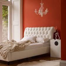 Orange Bedroom Style With White Simple Chandelier The Perfect For Interior Design Ideas