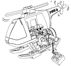 Lego Duplo Fireman Helicopter Coloring Pages