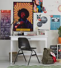 College Dorm Room Photo Image Shot With Wall Art And Posters Of Music