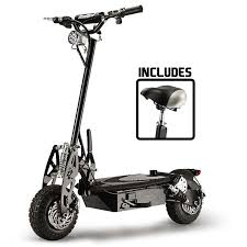 Black Off Road Turbo Electric Scooter STEALTH 1 6 By BULLET