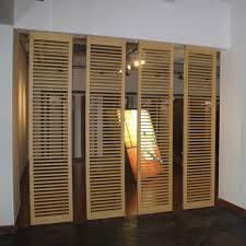 attractive panneau de separation bureau 8 sliding movable bamboo