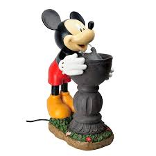 Disney Mickey Mouse Bathroom Decor by Shop Disney 25 5 In Resin Fountain Statue At Lowes Com