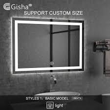 nach maß wand montiert smart spiegel led bluetooth bad