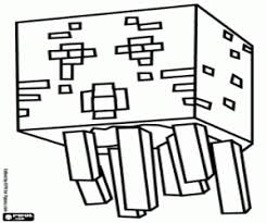 Ghast A Creature Of Minecraft Coloring Page Printable Game