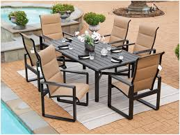 Fortunoff Patio Furniture Covers by Backyards Charming Atlas Padded Sling 7 Pc Aluminum Dining Set