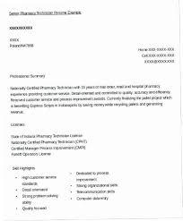 Pharmacy Technician Resume Samples 17S7 Sample Senior Example Free Creerpro