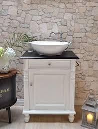 gäste waschtisch mit lackierter eichenplatte schwarz