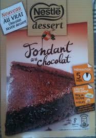 nestlé desserts fondant au chocolat 317 g