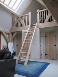 Oak Ladder To Mezzanine