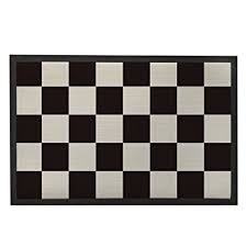 noir et blanc paillasson tapis de porte d entrée d intérieur