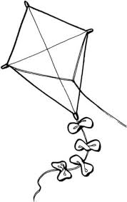 Click To See Printable Version Of Kite Coloring Page