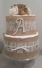 3 Or 2 Tier Burlap Towel CakeA Touch Of Rustic Elegance Wedding Gift